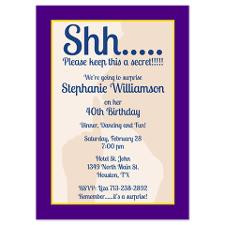 Surprise Birthday Party Invite for