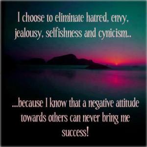 Eliminate the negativity.