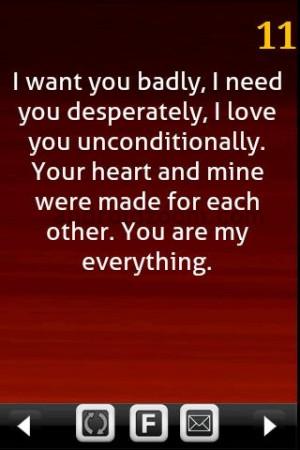 Want You Badly, I Need You Desperately.