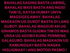 Binisaya Pinulongan-Visayan Saying-Detto Bisaya(Dialetto Filippino)