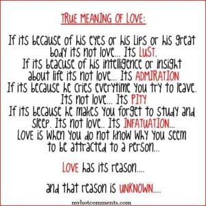 True meaning of love... 8 of 16