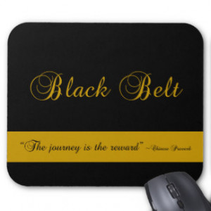 Martial Arts Black Belt Journey Mousepad
