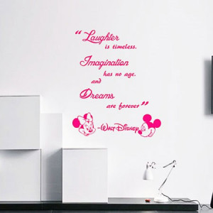 Home / Quotes & Words Wall stickers / Walt Disney Laughter is timeless ...