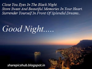 Close Your Eyes Sweet Good Night Quote Wallpaper
