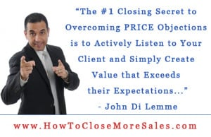 Price Objections (Quote from the Closing and Marketing University