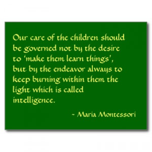 Maria Montessori Respectful
