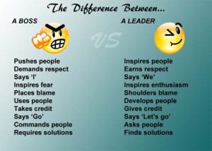 ... Boss And Leader Inspire You To Become A Leader Rather Than A Boss (3