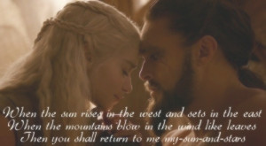 Daenerys and Khal Drogo ♥
