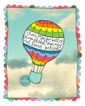 Inspirational Art Print, Far Better Things Ahead, CS Lewis, Hot Air ...