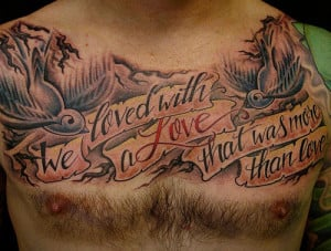 Bible Quotes Chest Tat...