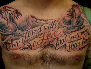 ... 500 × 380 in Incredible Chest Tattoos For Men . ← Previous Next