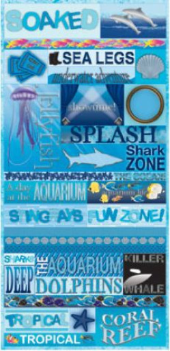 Under The Sea Quotes Scrapbook Sticker by Reminisce