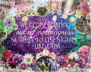 Stars Like Dust - 16 x 20 paper print, rumi quote print, celestial ...