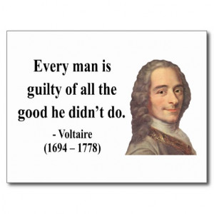 Voltaire Quote 9b Post Card