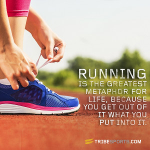 "Oprah Winfrey Quote: ""Running is the greatest metaphor for life ..."