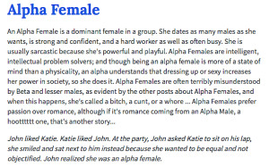 So, who's right for the mighty Alpha Female? What kind of man can ...