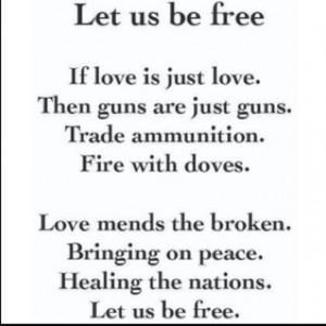 Let Us Be Free by Christofer Drew (poem)