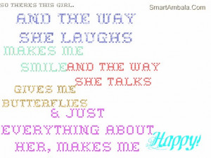 She Makes Me Smile Quotes