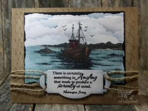... Bread Designs Cling Stamp Set The Waves on the Sea, Ship, Bible Verses
