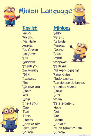Cartoons minions quotes and funny minions pics
