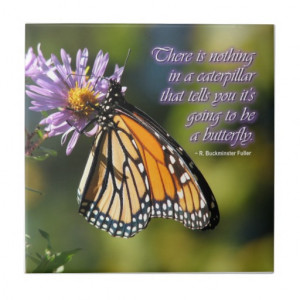 Butterfly Inspirational Quote Tile