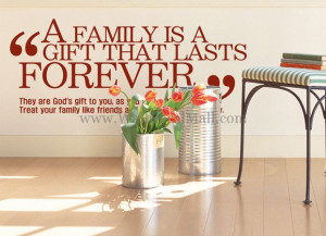 wall decals quote a family is a gift that lasts forever quotes wall ...