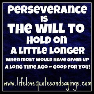 perseverance sayings