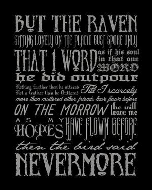 themoderngeek › Portfolio › Edgar Allan Poe RAVEN typography