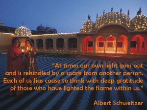 Excellent Quote by Albert Schweitzer with Image !