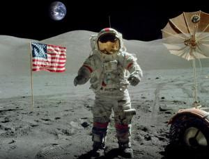 The last men on the Moon.. Apollo17 's Astronaut Eugene Cernan walks ...