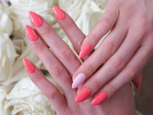 Pink Claw Nails Design
