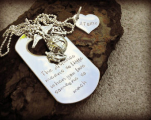 ... Marine Wife - Army Wife - Deployment Jewelry - Military Deployment