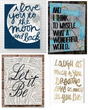 Canvas Ideas: Quotes on Canvas!