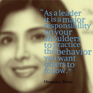 ... want to see in the world and in your organization. #Quote #Leadership