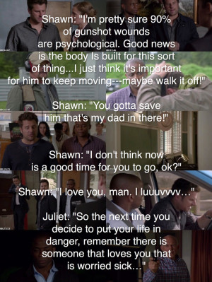 Psych quote: Gus: I was gonna ask you the same question