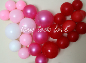 ... White Pink Red And Maroon Balloons Wall Heart A Romantic Valentine Day