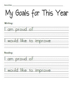 Goal Setting Quotes For Kids Student goal-setting sheets