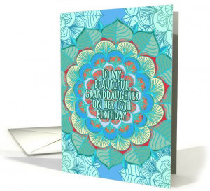 Floral Mandala, Birthday Cards, Greeting Cards, 13Th Birthday, Mandala ...