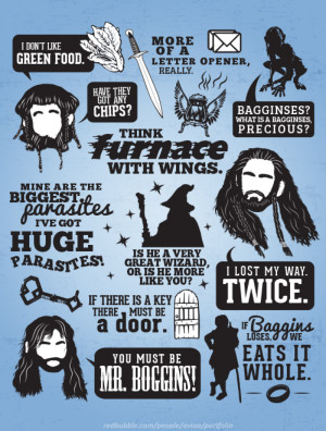 """... Hobbit Quotes"""" Design For 'The Hobbit: An Unexpected Journey"""