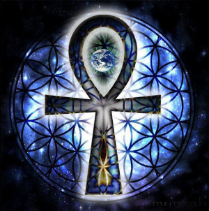Ankh And flower of life