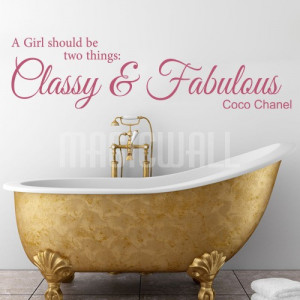 ... Fabulous Girl - Coco Chanel - Wall Quotes - Wall Decals Stickers