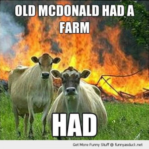 evil cows old mcdonald animal funny pics pictures pic picture image ...