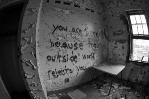 Inside of an abandoned mental hospital