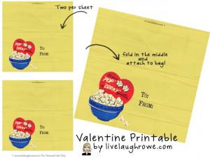 Vintage Valentine Bag Topper Printable by livelaughrowe.com #diy # ...
