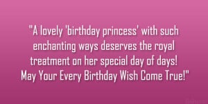 lovely 'birthday princess' with such enchanting ways deserves ...