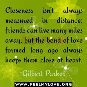 Closeness isn't always measured in distance;