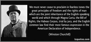 ... Bill of Rights, the Habeas Corpus, trial by jury, and the English
