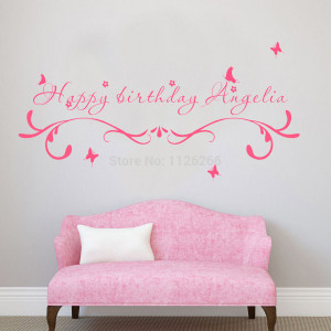Customer-made Happy Birthday Creative Wall Stickers Quotes ...