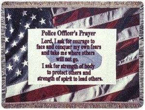Personalized Police Officer Gift To Remember Inspirational Tapestry ...