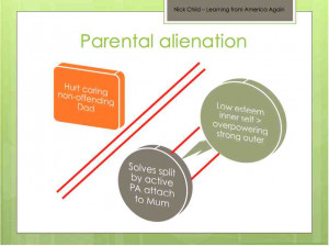 ... children's relationships with separated parents with PA at one end
